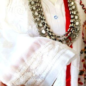 New white chikankari kurta kurti